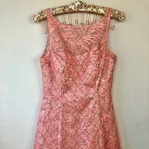 Aidan Mattox Pink Lace Dress